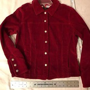Jacket, Western Cut, Corduroy, Pockets, Cranberry
